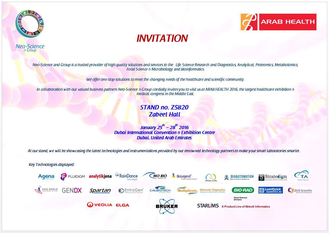 Sample of invitation letter for science exhibition image qatar scientific company scientific equipment company in qatar click for invitation stopboris image collections stopboris Gallery